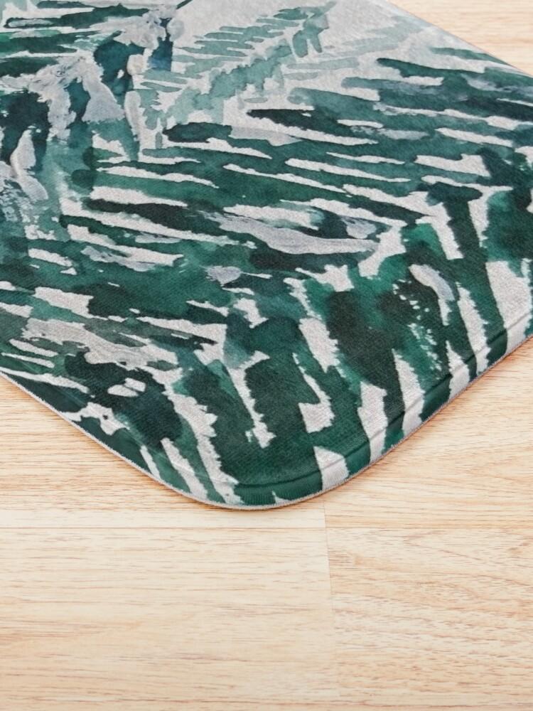 Alternate view of snowy pine forest green  Bath Mat