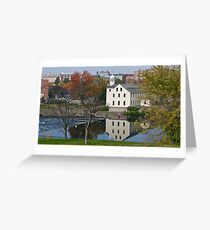 Slater Mill Historic Site - Fall in Rhode Island *featured Greeting Card