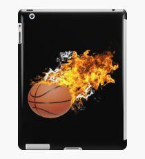 Flaming Basket Bal iPad Case/Skin