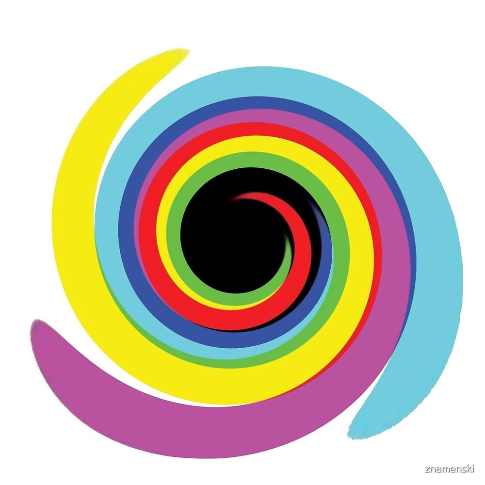 #OpArt #OpticalArt #Rainbow, #design, vortex, creativity, bright, target, horizontal, color, circle, multi colored by znamenski
