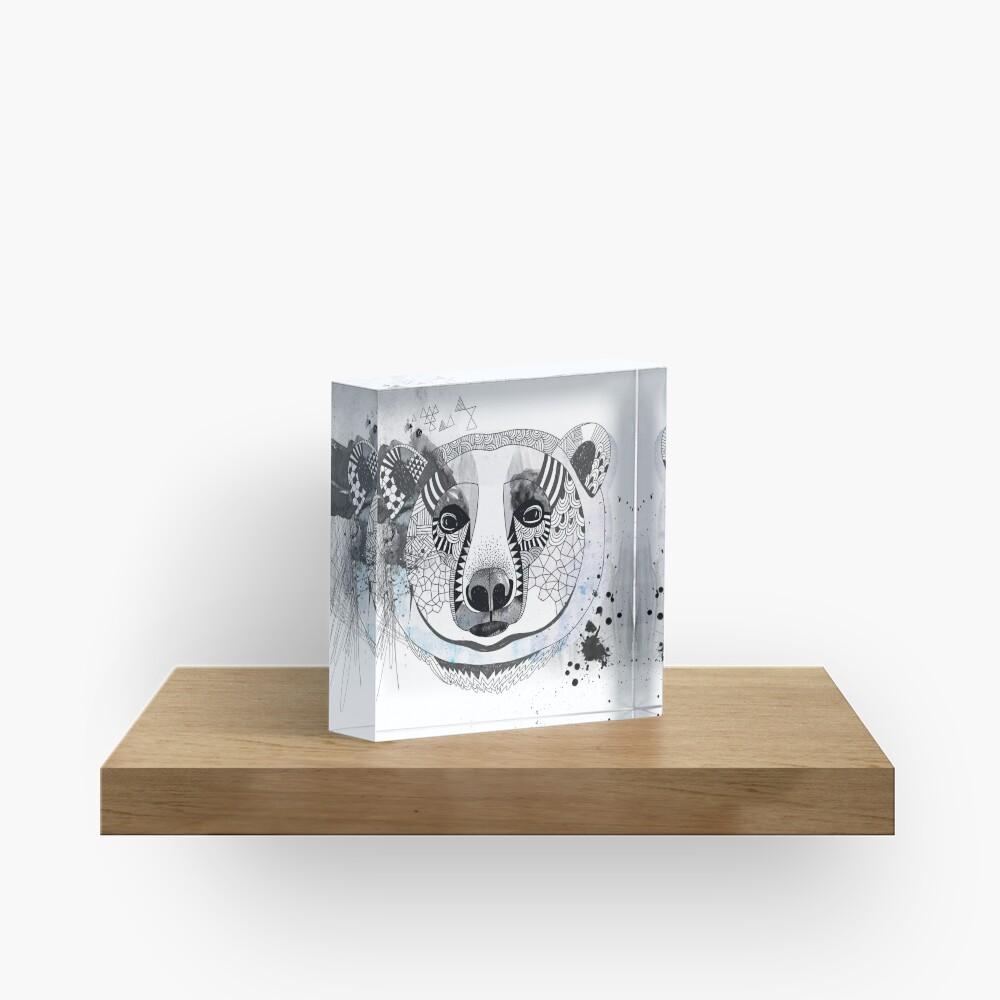 White bear Acrylic Block