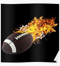 Flaming FootBall Poster