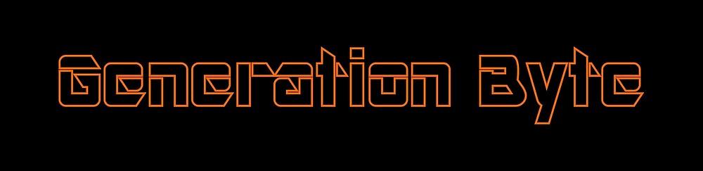 Generation Byte Orange Outline on Black Background by GenerationByte