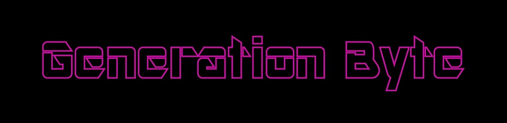 Generation Byte Purple Outline with Black Background by GenerationByte