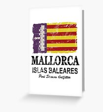 Majorca Flag - Vintage Look Greeting Card