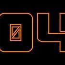 2045 Orange Outline on Black Background by GenerationByte