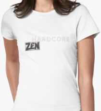 Hardcore Zen Logo Only T-Shirt or Hoodie Women's Fitted T-Shirt