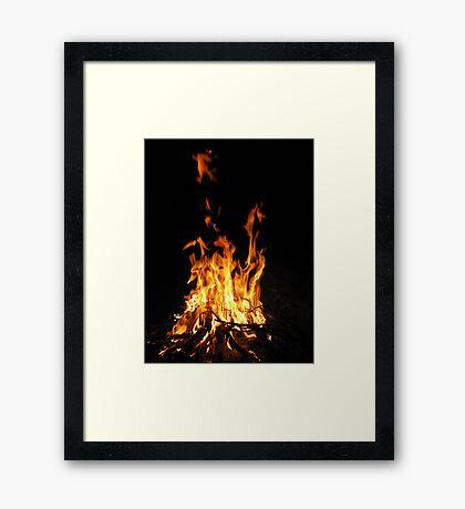 Fireside Chat Framed Print