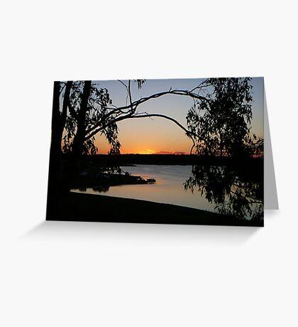 A Bush Sunset at Lake Boondooma Greeting Card