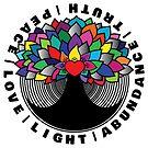 Spiritual Tree Mandala Peace Love & Light  by KimSzuta