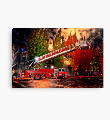 Salem Fire Engine Canvas Print