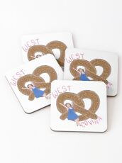 Crazy Ex Girlfriend West Covina Pretzel with Text Coasters