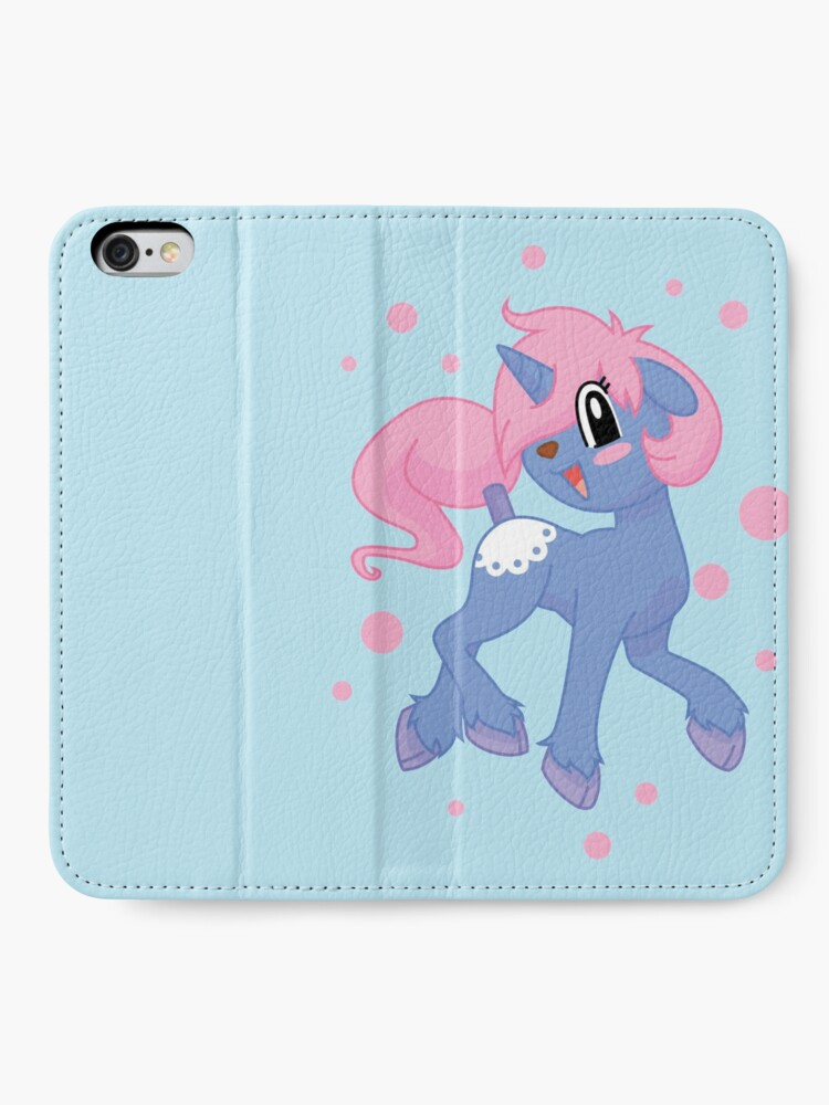 Alternate view of Una the unicorn iPhone Wallet