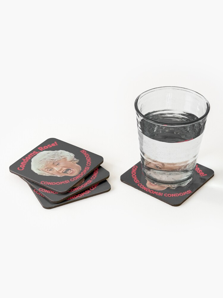 Alternate view of Golden Girls- Condoms, Rose! Coasters (Set of 4)