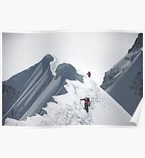 Climbers on der Mönch (4107 m), Switzerland Poster