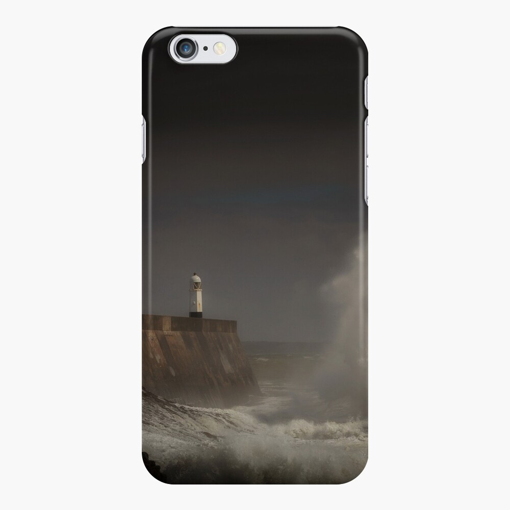 Porthcawl lighthouse and storm iPhone Case & Cover