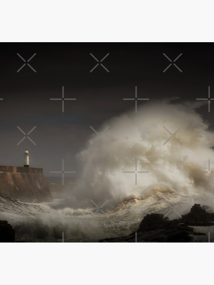 Porthcawl lighthouse and storm by leightoncollins