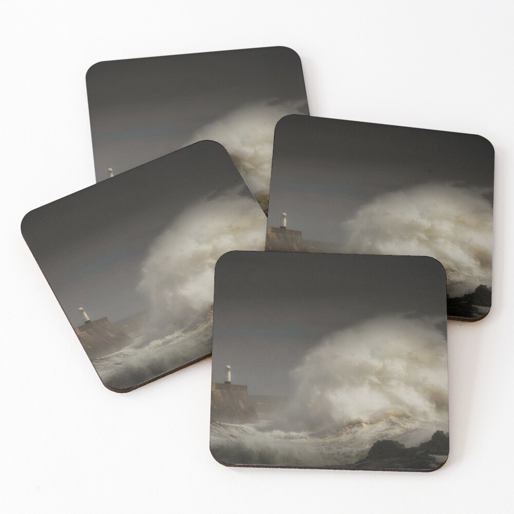 Porthcawl lighthouse and storm Coasters (Set of 4)