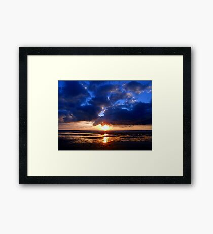 Atlantic Sunset - Biscarrosse Framed Print