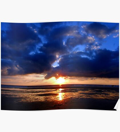 Atlantic Sunset - Biscarrosse Poster