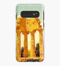 Temple of Castor and Pollux, Valle dei Templi, Agrigento, Sicily, Italy Case/Skin for Samsung Galaxy