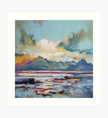 Cuillins from Elgol Art Print