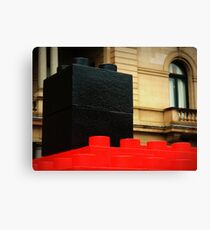 basic blocks of classic architecture Canvas Print