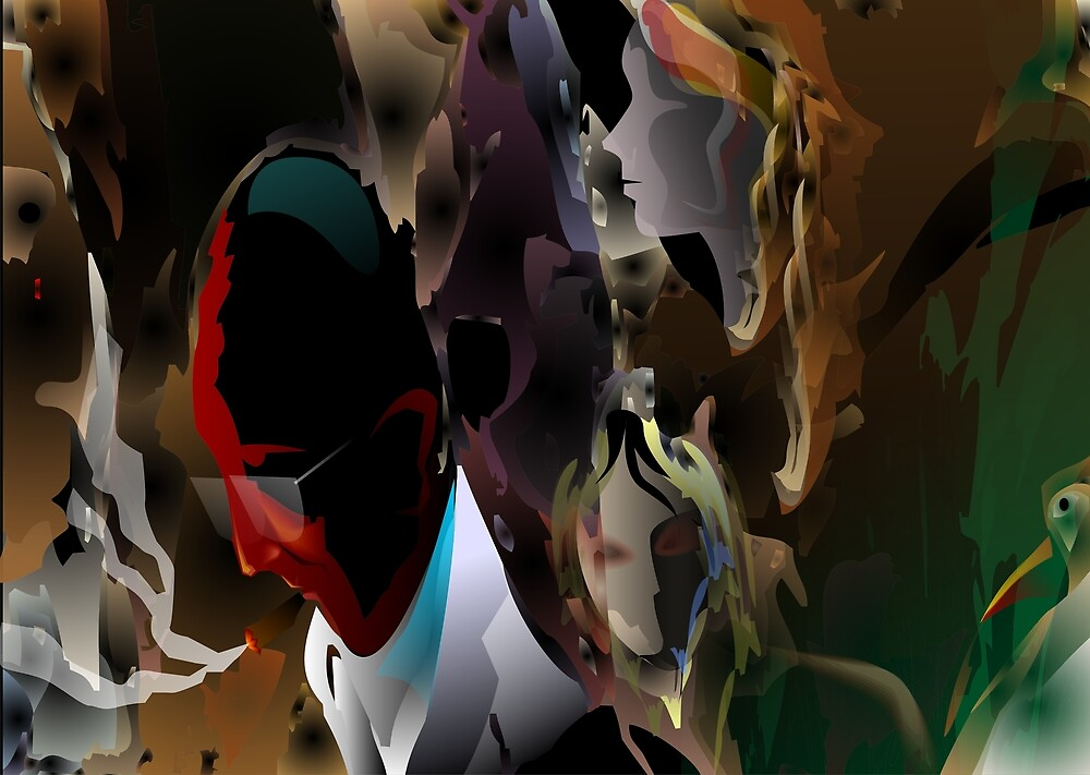 Abstract paintings of group of persons	 by tillydesign