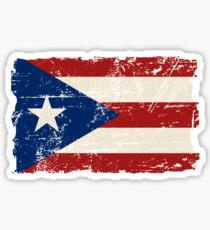 Puerto Rico Flag - Vintage Look Sticker