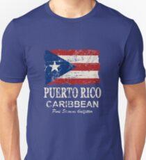 Puerto Rico Flag - Vintage Look T-Shirt