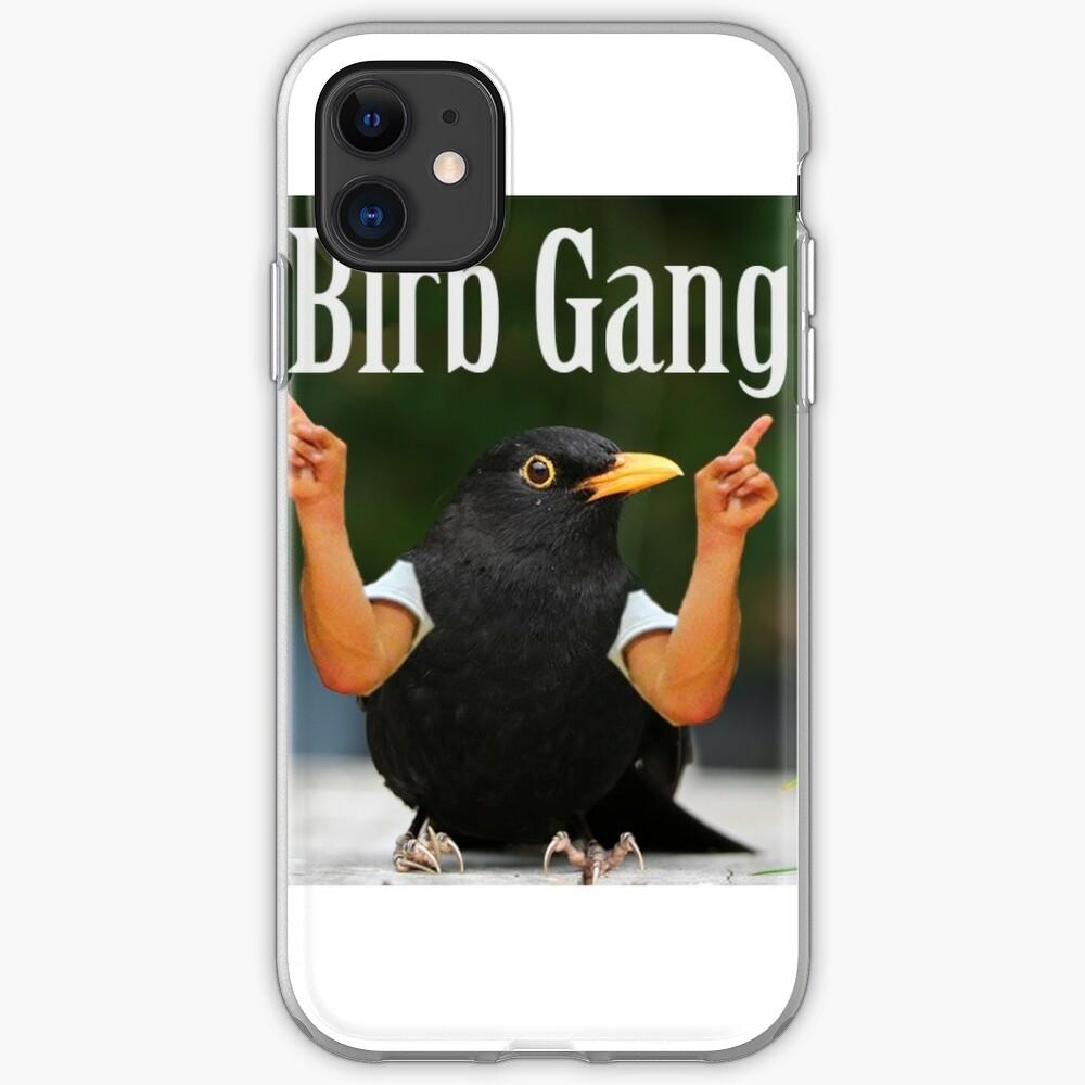 Wild Green Memes Bird Birb Gang iPhone Soft Case