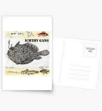 Wild Green Memes Fish Ichthyology Gang Postcards