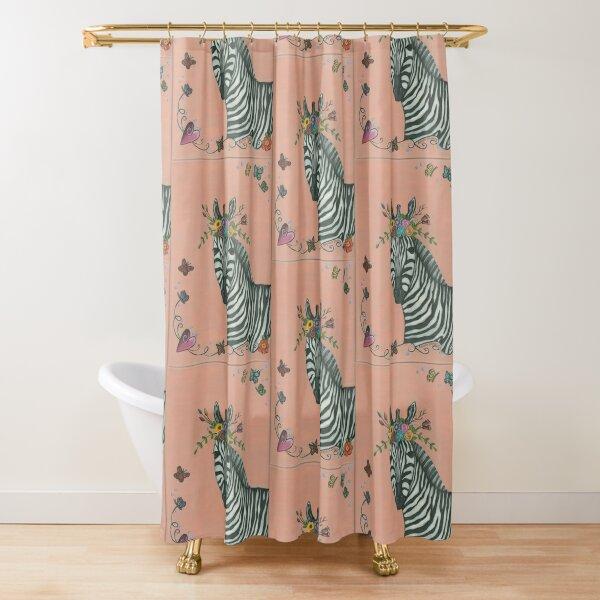 I Feel Pretty Zebra Shower Curtain