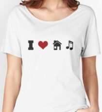 I Heart House Music  Women's Relaxed Fit T-Shirt