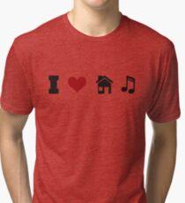I Heart House Music  Tri-blend T-Shirt