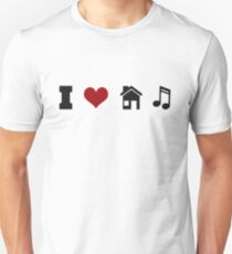 I Heart House Music  Unisex T-Shirt