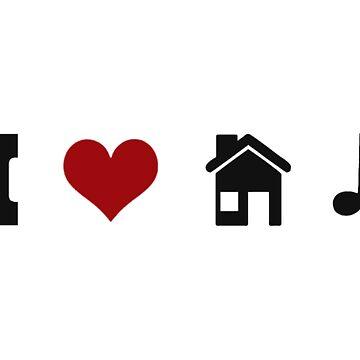 I Heart House Music  by jbChimchar