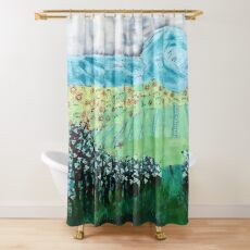 Rainbow Grapes Shower Curtain