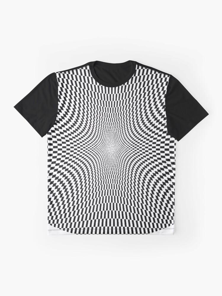 Alternate view of #Abstract, #Pattern, #Texture, #Design, Wallpaper, Art, OpArt, Optical Art Graphic T-Shirt