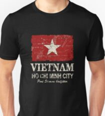 Vietnam Flag - Vintage Look T-Shirt