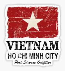 Vietnam Flag - Vintage Look Sticker
