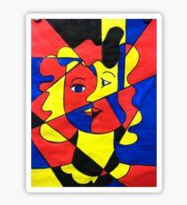 Elementary Cubism Sticker