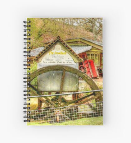 Smallest working water mill Spiral Notebook