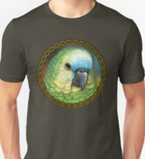Blue fronted amazon parrot realistic painting Unisex T-Shirt
