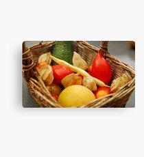Harvest - Fruit and Vegetables Canvas Print