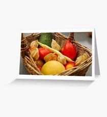Harvest - Fruit and Vegetables Greeting Card