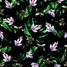 Midnight Floral Tropical Black Print by SandAndChi
