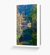 Riverscape in Eastern Washington State, USA Greeting Card