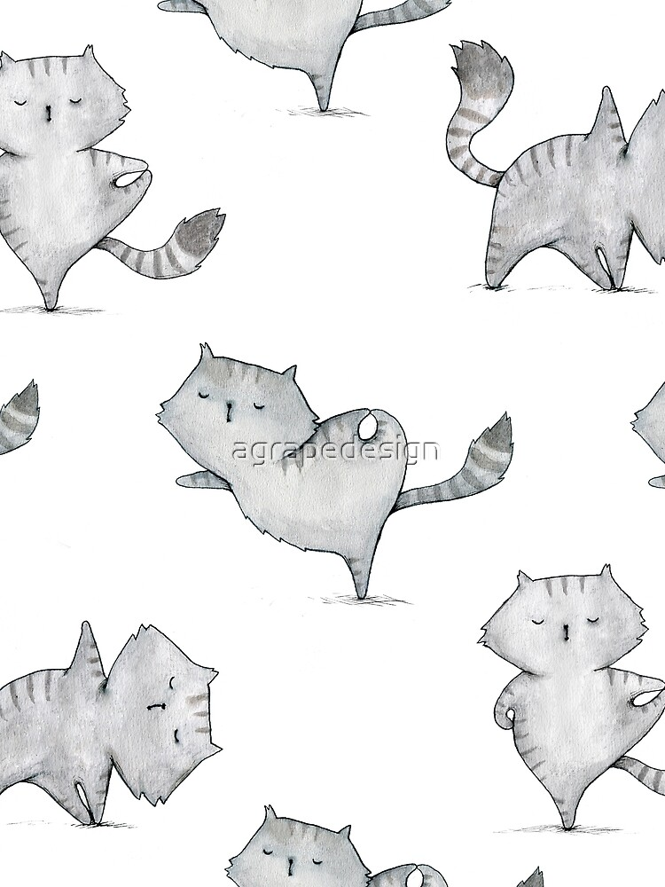 Yoga cat by agrapedesign