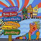 Iguana in paradise by Mirjam Griffioen